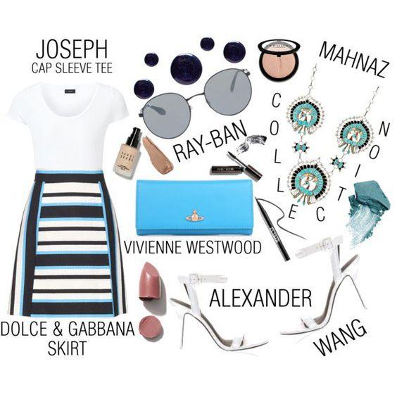 Street Style Chic - Dolce & Gabbana Striped Skirt #ToyasTales