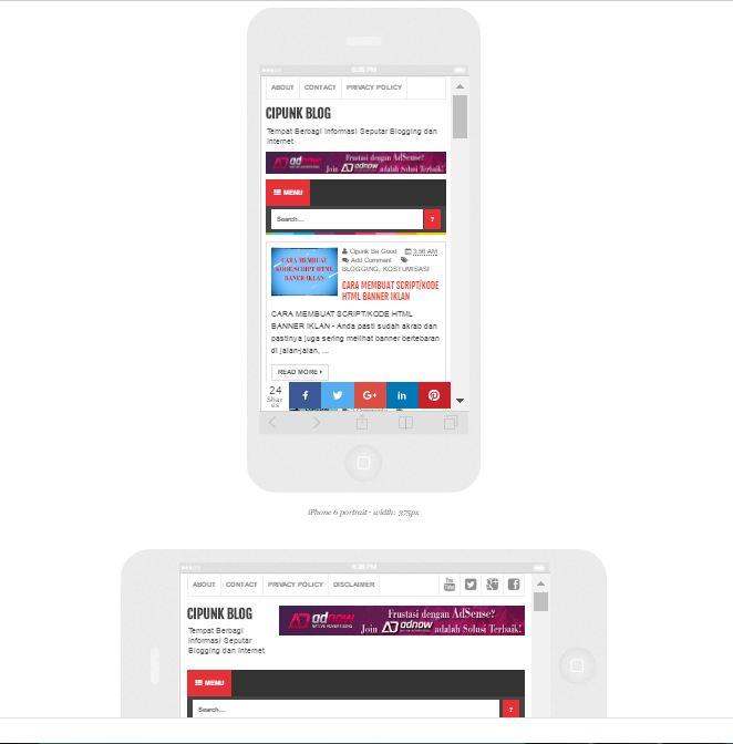 cara melihat tampilan blog versi mobile melalui komputer