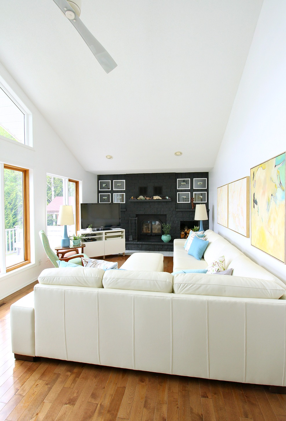Tour a Modern Living Room with TV in the Corner