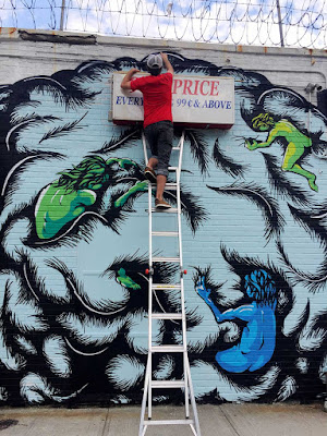 Welling Court Mural Project Daryll Peirce painting