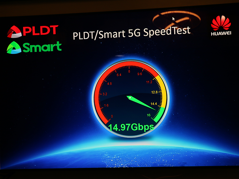 Smart and Huawei claimed that they achieved 5G speeds of over 14 Gbps!