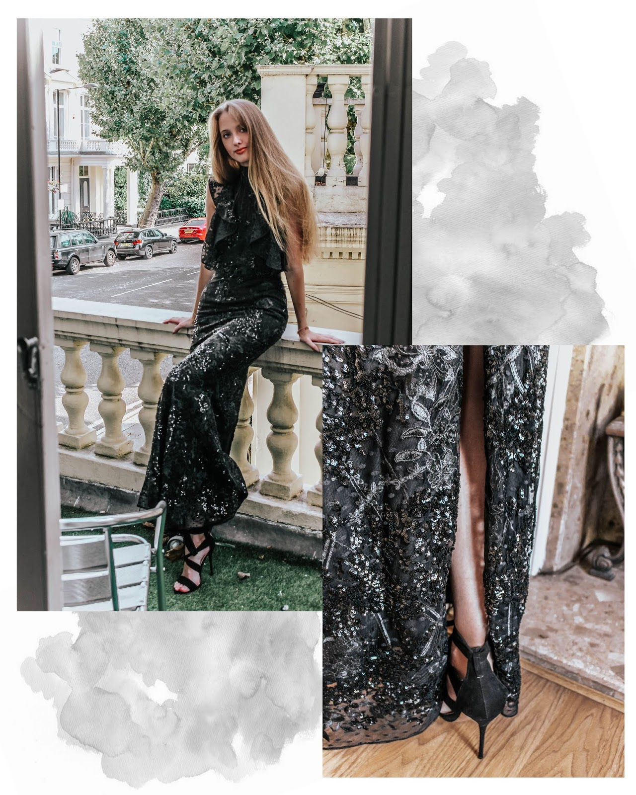 River Island High Street Embellished Black Maxi Dress