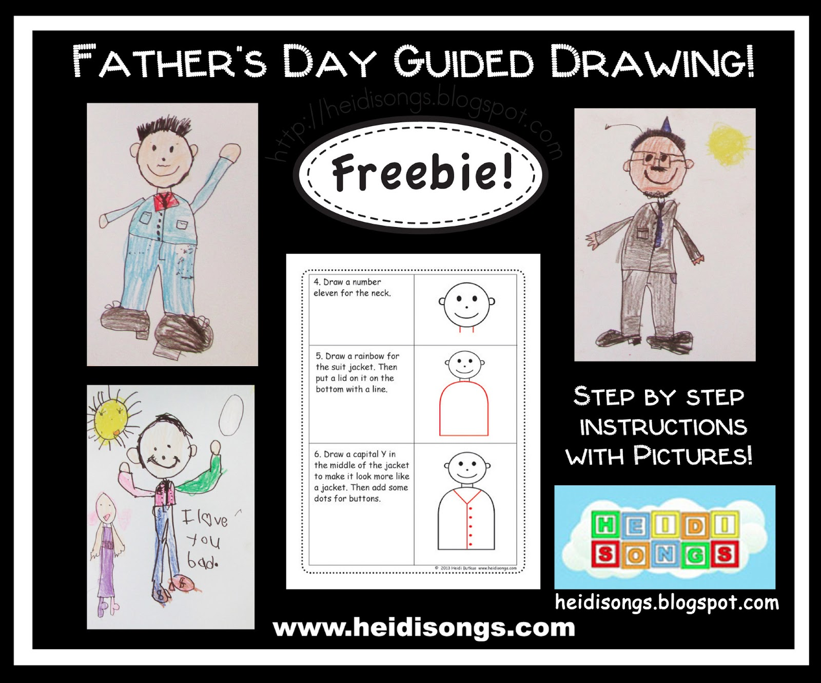 Father S Day Guided Drawing Freebie