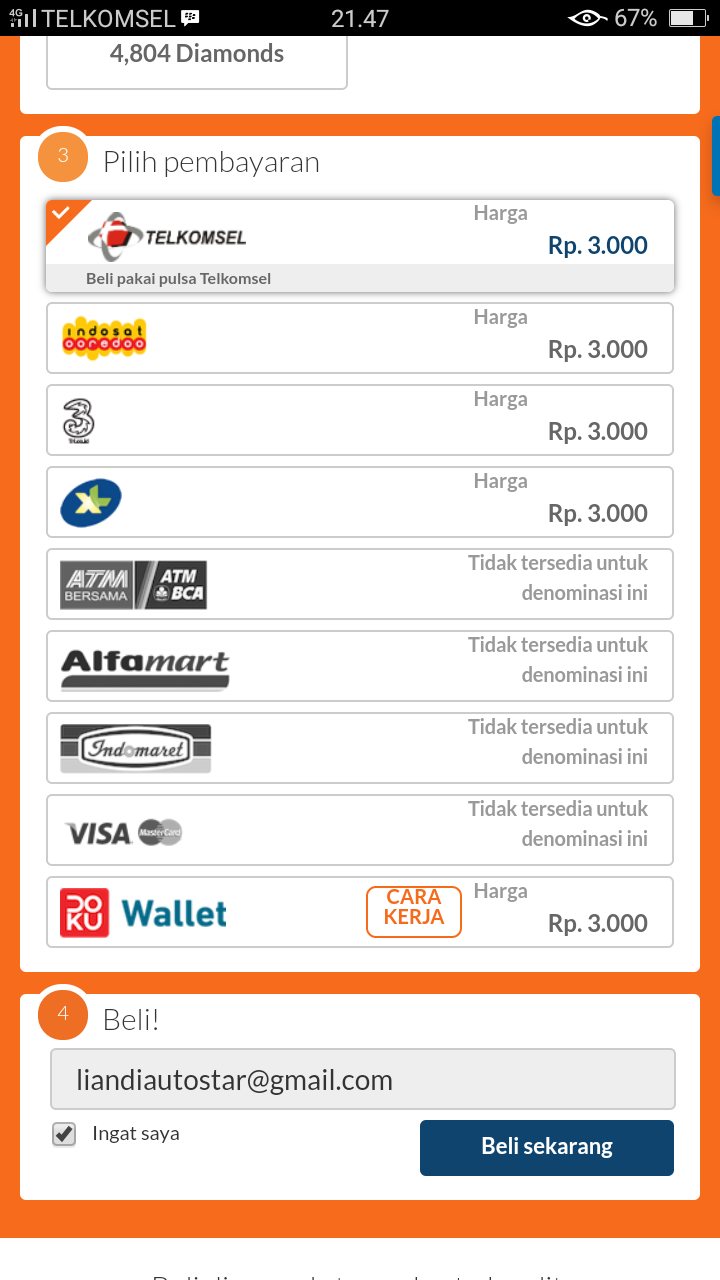 Mobile Legend Cara Beli Diamond Lewat Codashop Via Pulsa
