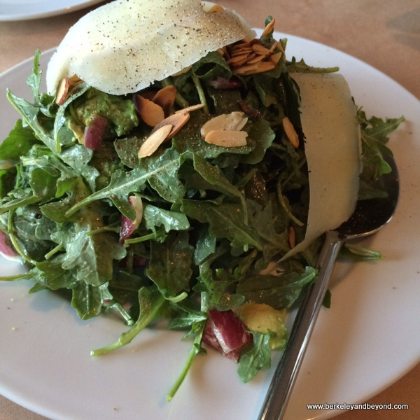 arugula-endive salad at Aquarelle Cafe & Wine Bar in Boonville, California