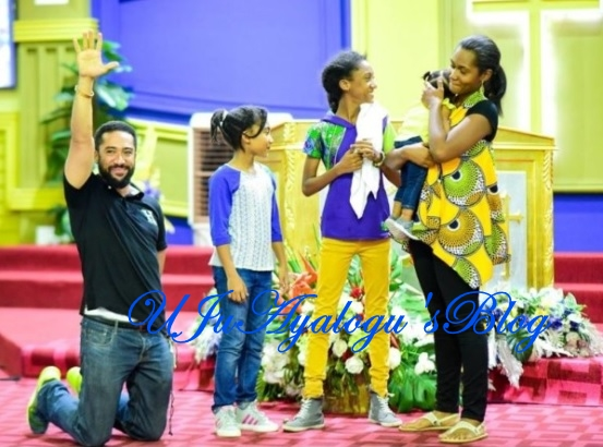 [Photo] : Beautiful Family of Majid Michel in church