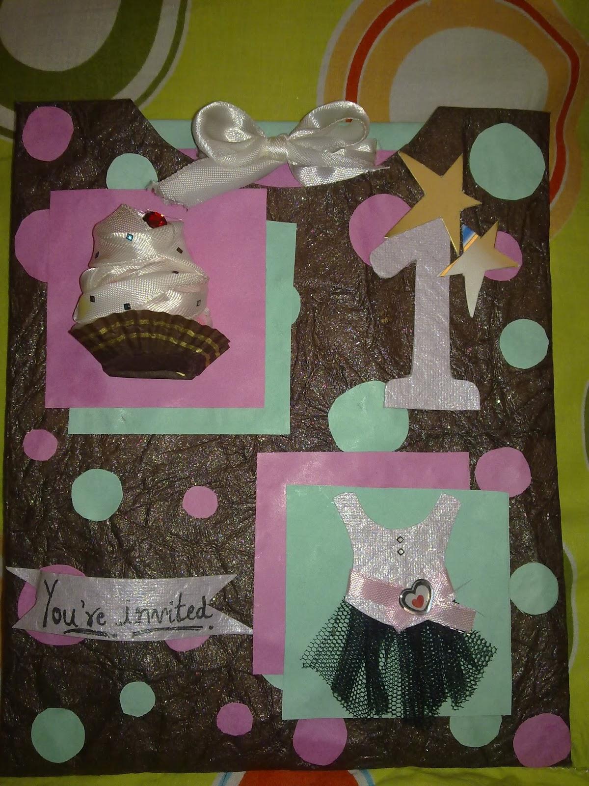 happily ever crafter handmade birthday invitation card