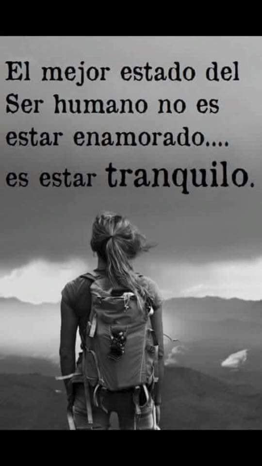 El mejor estado del ser humano no es estar enamorad