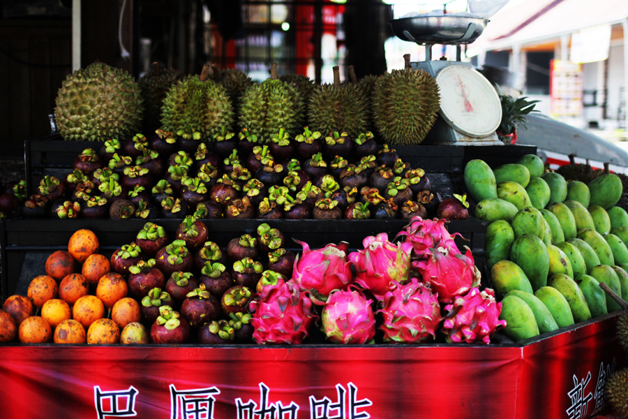 passion fruit dragon fruit exotic bali market jackfruit
