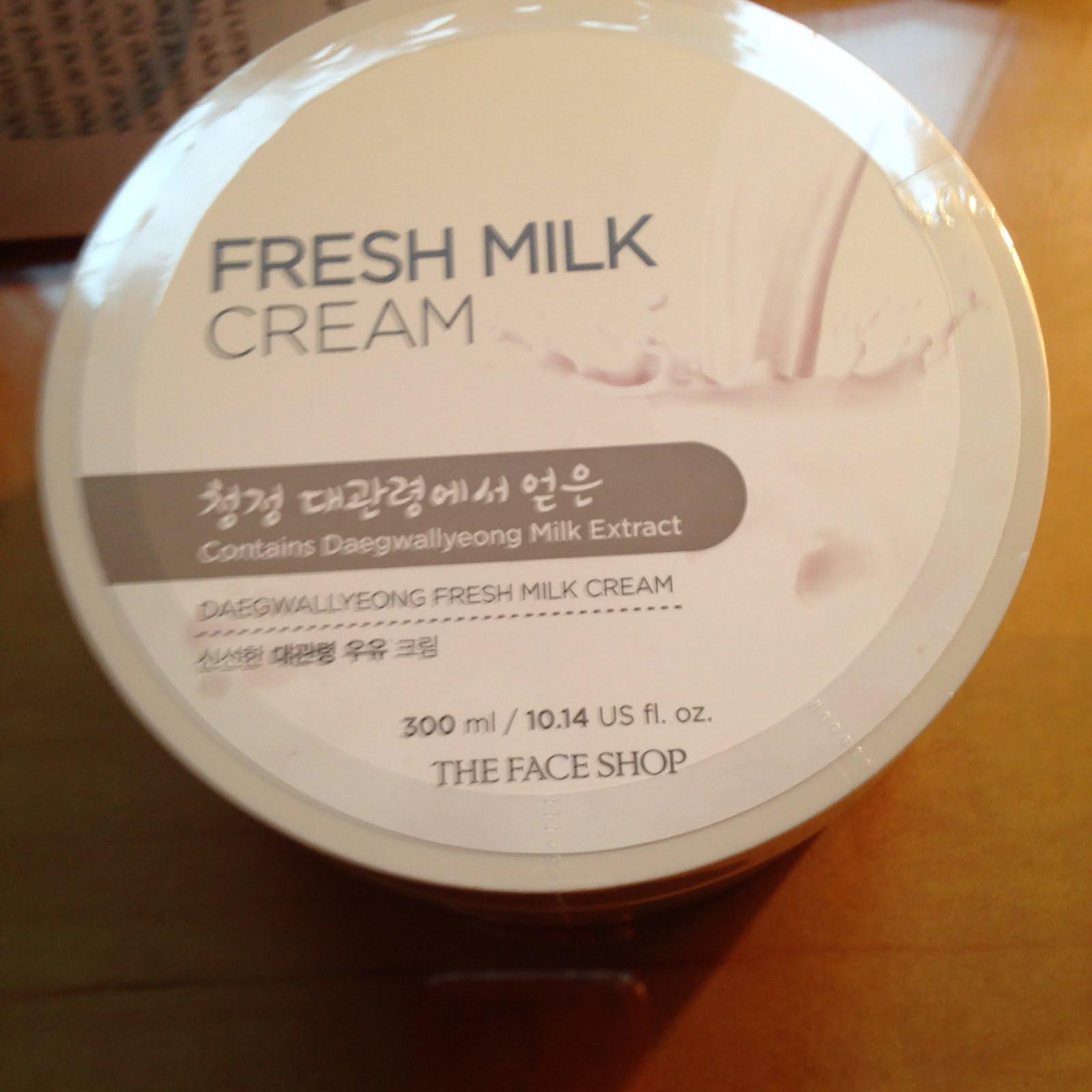 Fresh Milk Cream Face Shop Pantip