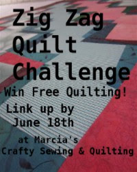 Zig Zag Quilt Challenge 2012 - The winners won FREE Quilting