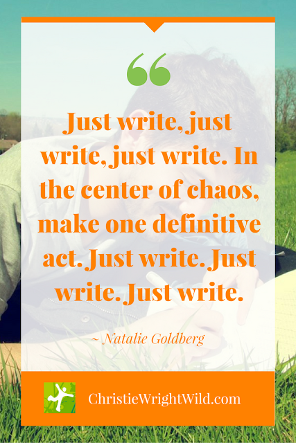 """In the center of chaos, make one definitive act. Just write."" Natalie Goldberg 
