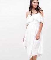 Moda feminina Vestido com Pontas