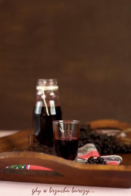 sok z czarnego bzu, syrop na kaszel