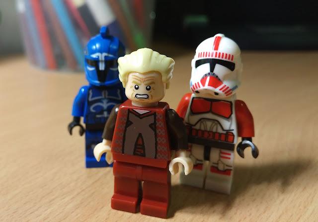Фигурки лего канцлер Палпатин, ударный клон и стражник сената