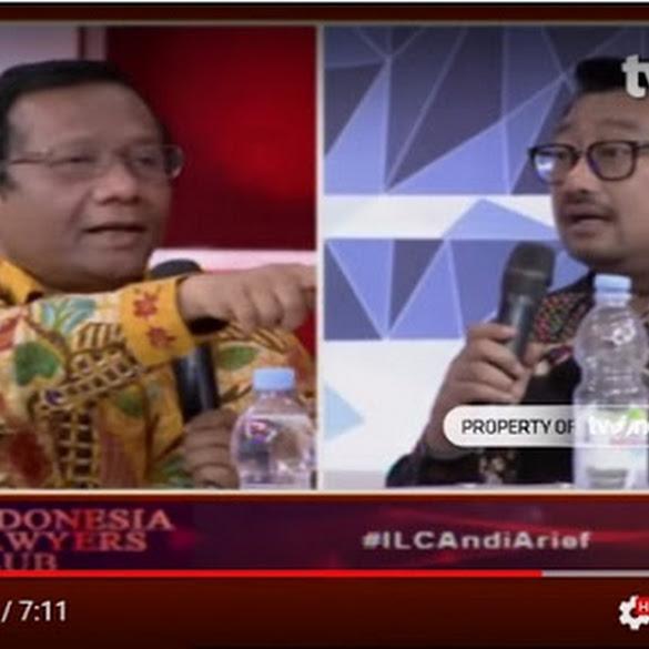 ILC Panas! Mahfud MD Tunjuk-Tunjuk dan Suara Tinggi Saat Debat dengan Rachland Nashidik