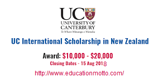 UC International First Year Undergraduate Scholarships