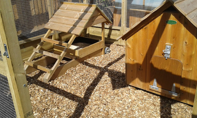 Chicken run hard wood chippings