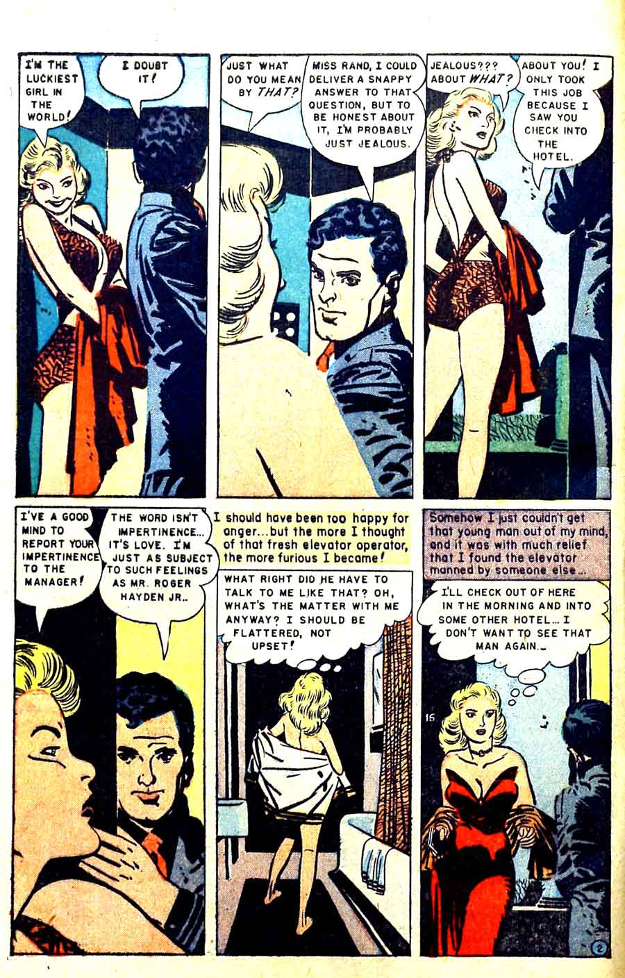 Personal Love v1 #11 golden age romance comic book page art by Alex Toth