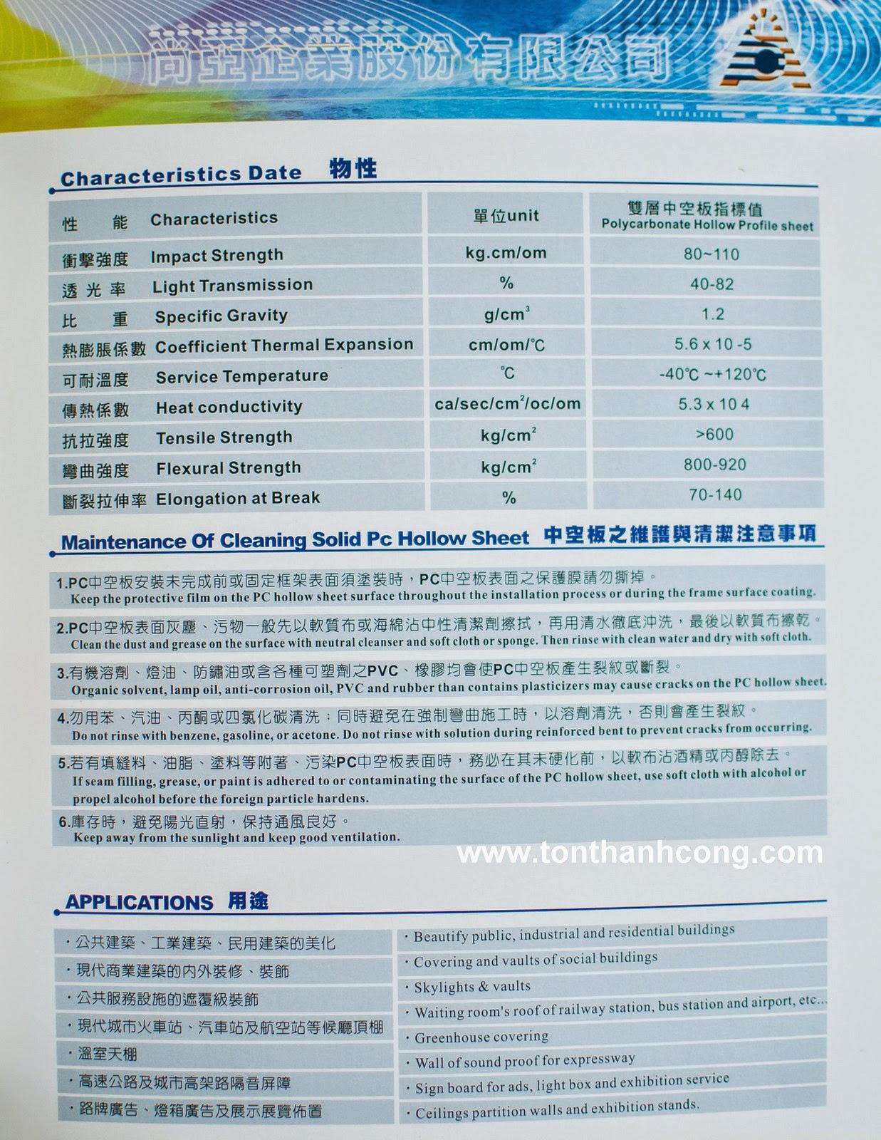 Tấm Lợp Lấy Sáng Polycarbonate Rỗng Ruột QueenLite - Trang 4