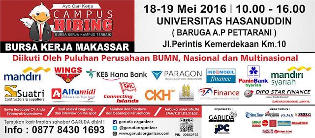 Jobfair bursa kerja di Makassar UNHAS 2016