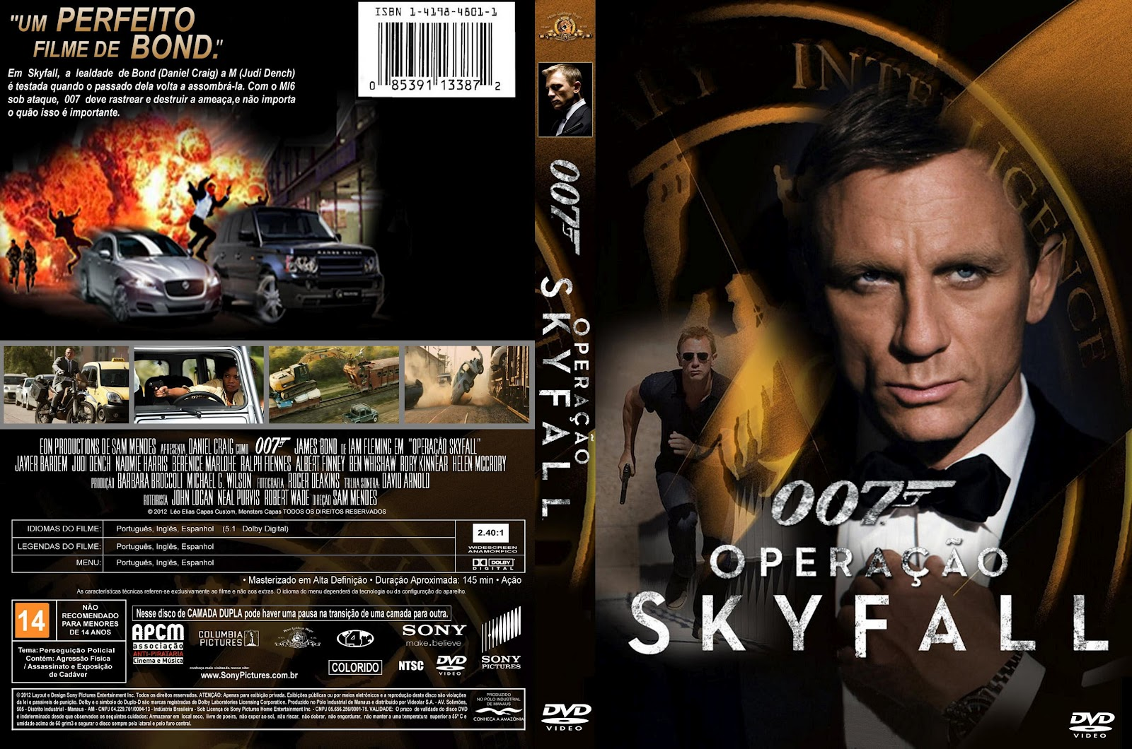 COPA DVD 007 OPE...007 Skyfall Dvd Cover
