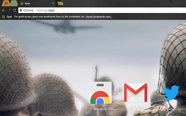 CALL OF DUTY WWII Free Theme FOR Chrome 2017