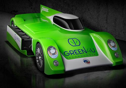 Tinuku GT-EV Green4U all-electric road-racing car by Panoz