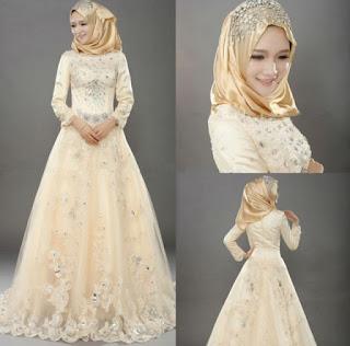 Gaun Pengantin Muslimah Simple Tapi Elegan
