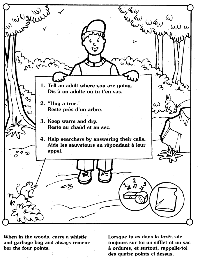 The Spec Ops Blog Lost Child Prevention Free 16 Page Hug A Tree Coloring Book By The Royal Canadian Mounted Police Rcmp