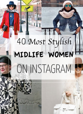 On 40+Style's list of the 40 Most Stylish Midlife Women on Instagram