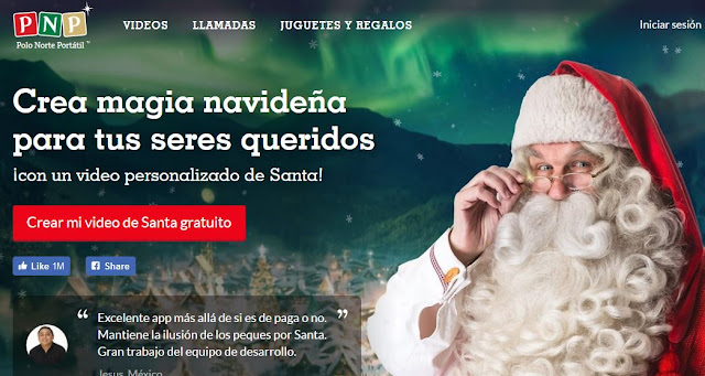 crear video personalizado de Santa Claus