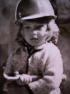 Claudia Bürk de niña