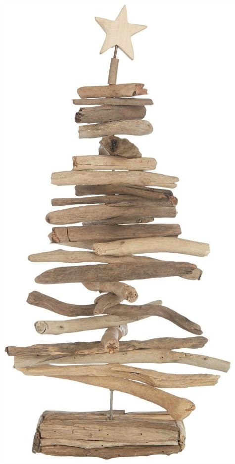 Driftwood Tree with Starfish Topper