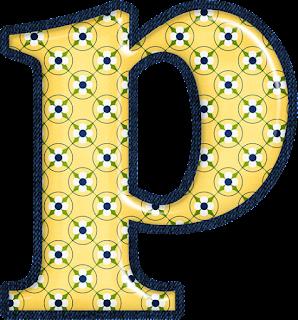 Abecedario Amarillo con Diseño.
