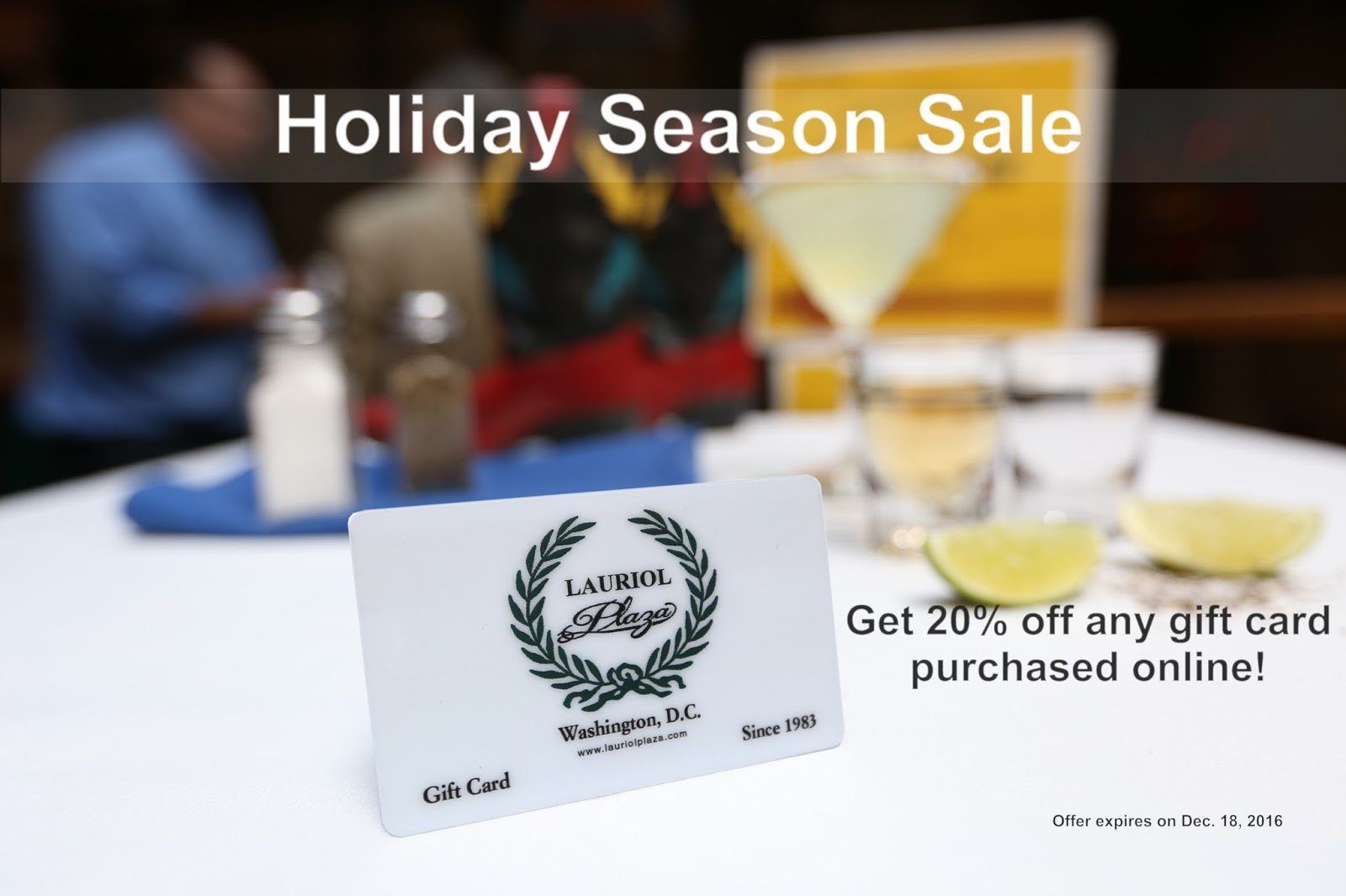 2017 holiday season sale get 20 off any gift card purchased online - Holiday Gift Card Promotions 2017