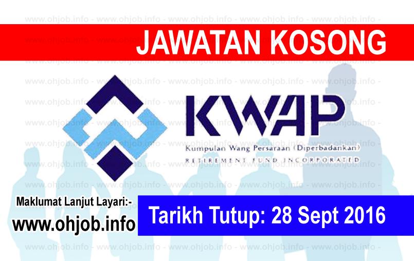 Jawatan Kerja Kosong Kumpulan Wang Persaraan (KWAP) logo www.ohjob.info september 2016