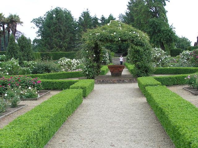 altana, ogród formalny różany