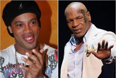 Ronaldinho Gaucho vai estrelar filme com Mike Tyson
