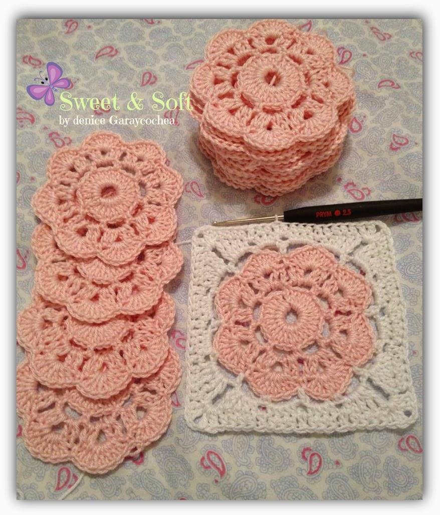 la magia del crochet maybelle granny square. Black Bedroom Furniture Sets. Home Design Ideas