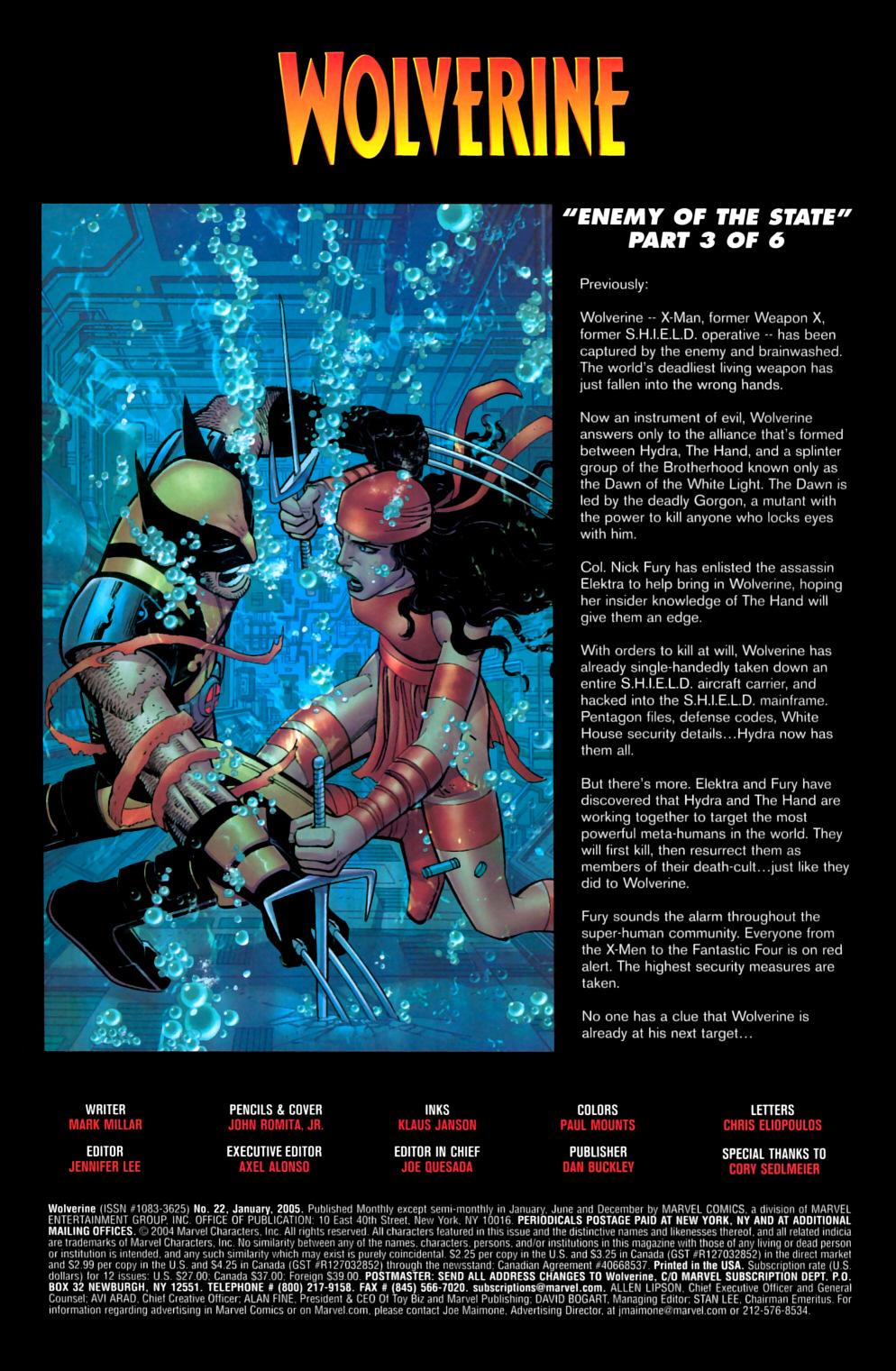 Read online Wolverine (2003) comic -  Issue #22 - 2