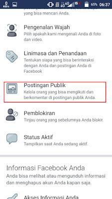 Pilih Postingan Publik