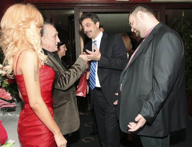 Delyan Peevski, right, the Russian-backed Bulgarian media mogul and politician.