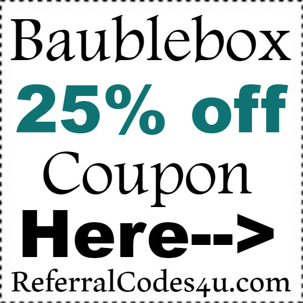 Baublebox Coupon Code 2016-2017, Baublebox Discount Code October, November, December