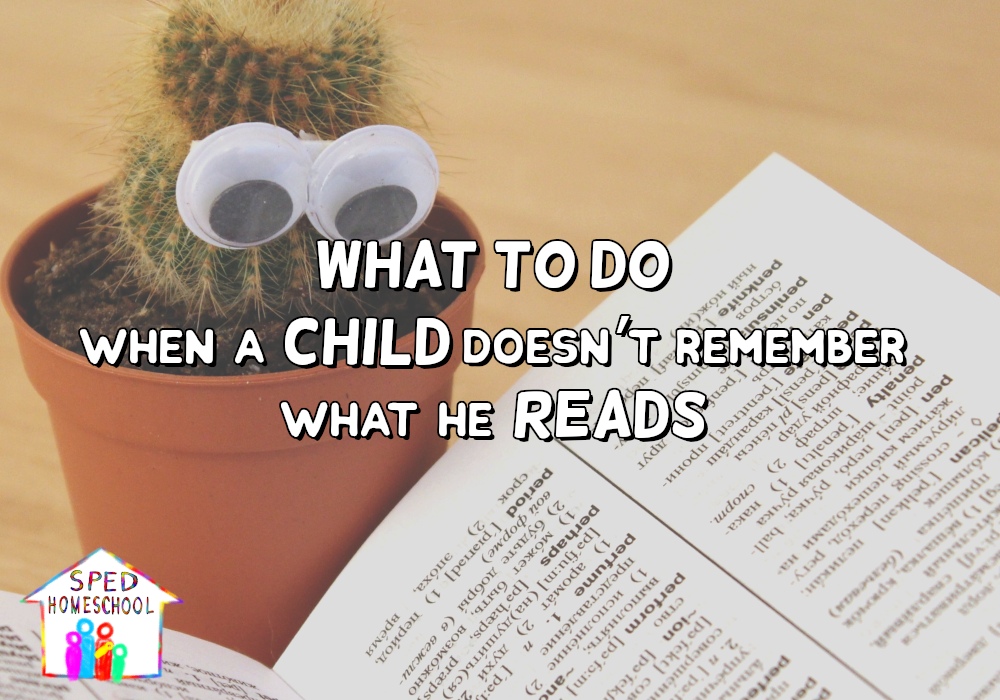 What to Do When a Child Doesn't Remember What He Reads