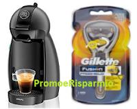Logo Vinci gratis 3 Macchine da caffè Nescafè Dolce Gusto e 10 rasoi Gillette Fusion Proshield