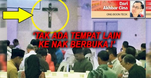 Astaghfirullahalazim!! DAH TAKDE TEMPAT LAIN KERRR?? Segelintir Umat Islam KANTOI Berbuka Dalam Gereja!!