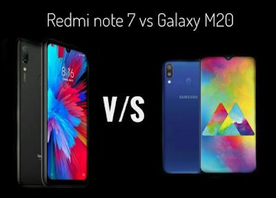 Redmi note 7 vs Galaxy m20.