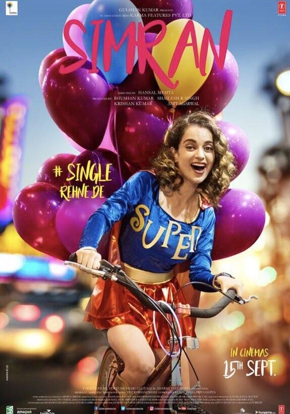 Kangana Ranaut's Simran Movie Poster