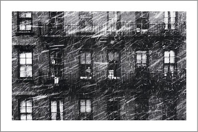 Falling Snow, Boy in Window, Paul Himmel (1914-2009)